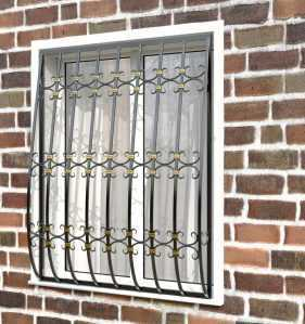 Фото 62 - Кованая решетка на окно КР-0030.