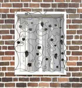 Фото 57 - Кованая решетка на окно КР-0029.