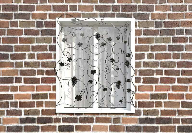 Фото 1 - Кованая решетка на окно КР-0029.