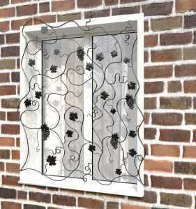 Фото 58 - Кованая решетка на окно КР-0029.