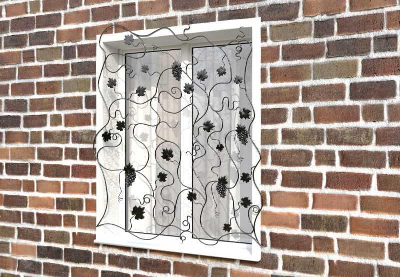 Фото 2 - Кованая решетка на окно КР-0029.