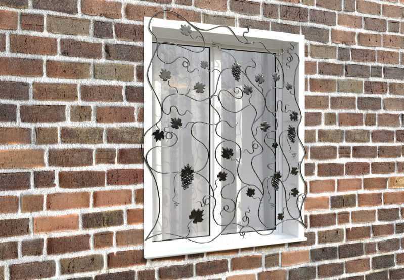 Фото 3 - Кованая решетка на окно КР-0029.
