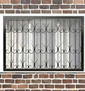 Фото 24 - Кованая решетка на окно КР-003.