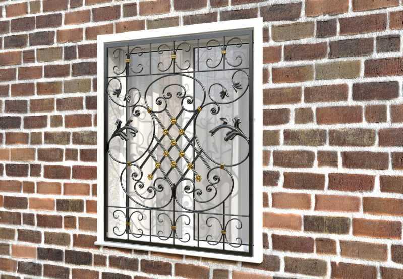 Фото 2 - Кованая решетка на окно КР-0040.