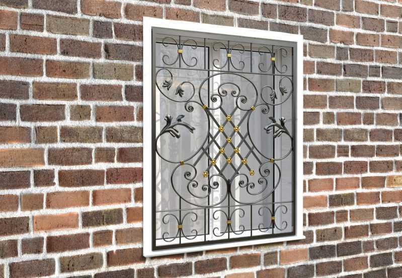 Фото 3 - Кованая решетка на окно КР-0040.