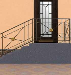 Фото 1 - Перила для лестниц П-001.