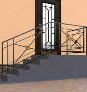Фото 2 - Перила для лестниц П-001.