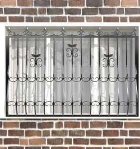 Фото 4 - Кованая решетка на окно КР-005.