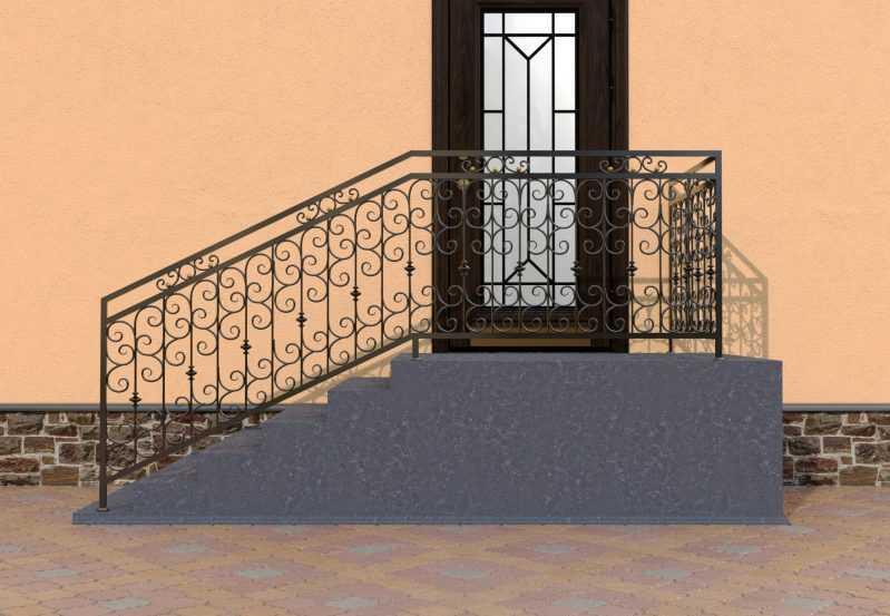 Фото 1 - Перила для лестниц П-0013.