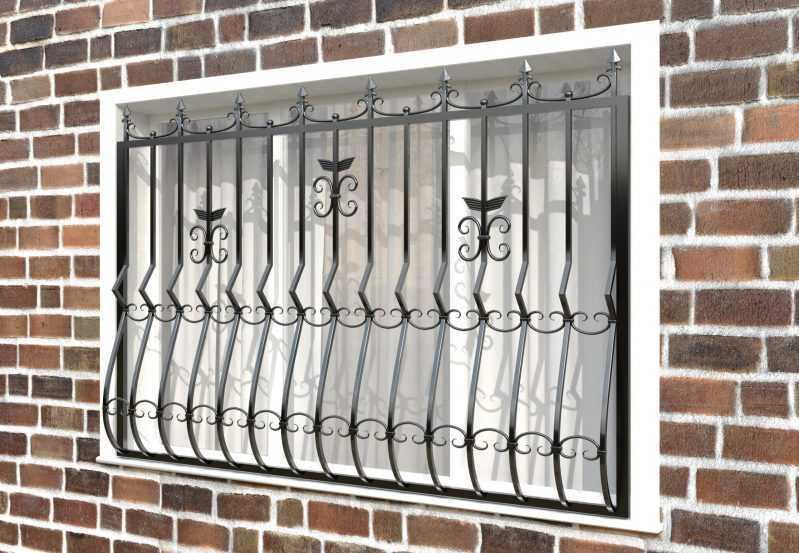 Фото 2 - Кованая решетка на окно КР-005.