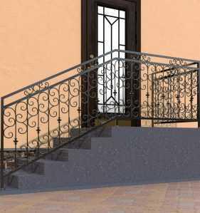 Фото 9 - Перила для лестниц П-0013.