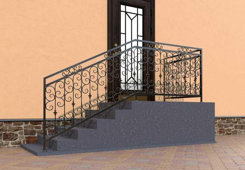 Фото 2 - Перила для лестниц П-0013.