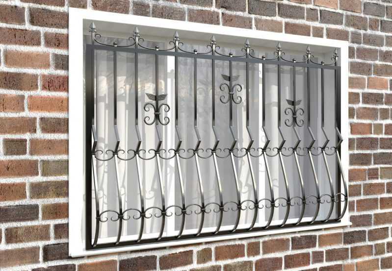 Фото 3 - Кованая решетка на окно КР-005.
