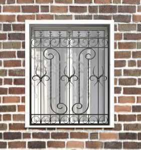 Фото 16 - Кованая решетка на окно КР-006.