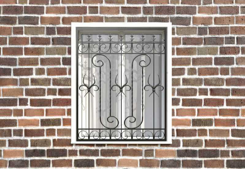 Фото 1 - Кованая решетка на окно КР-006.