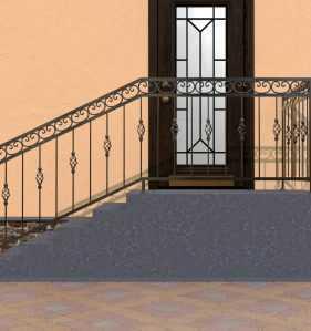 Фото 9 - Перила для лестниц П-005.