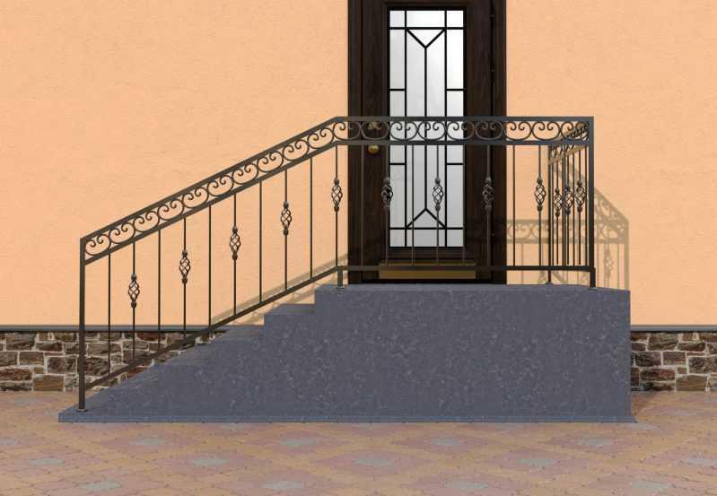 Фото 1 - Перила для лестниц П-005.