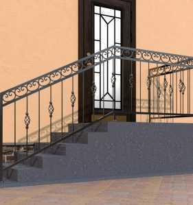Фото 10 - Перила для лестниц П-005.