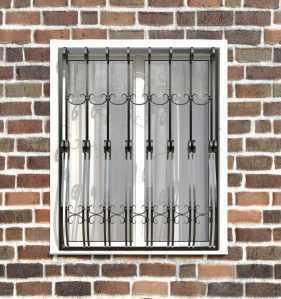 Фото 10 - Кованая решетка на окно КР-007.
