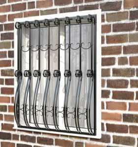 Фото 11 - Кованая решетка на окно КР-007.