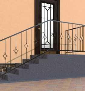 Фото 7 - Перила для лестниц П-002.