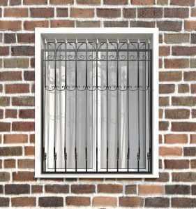 Фото 24 - Кованая решетка на окно КР-008.