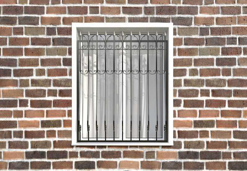 Фото 1 - Кованая решетка на окно КР-008.