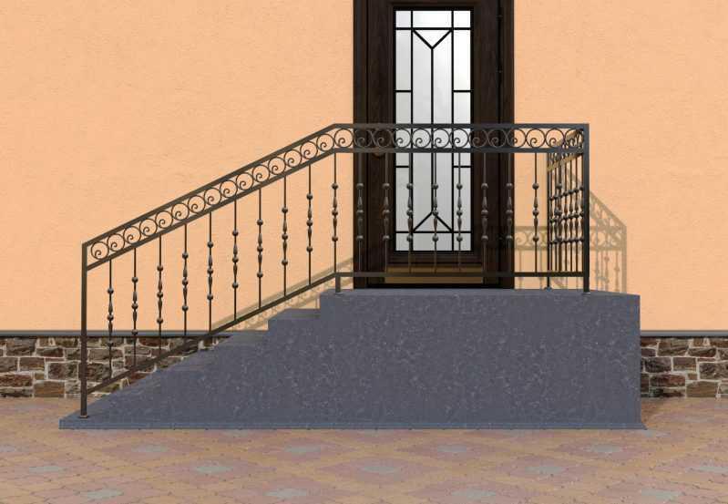 Фото 1 - Перила для лестниц П-006.
