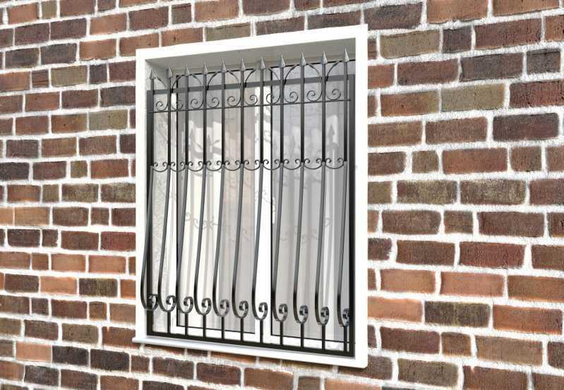 Фото 2 - Кованая решетка на окно КР-008.