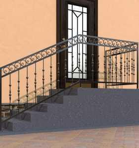 Фото 13 - Перила для лестниц П-006.