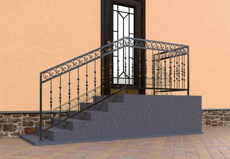 Фото 2 - Перила для лестниц П-006.