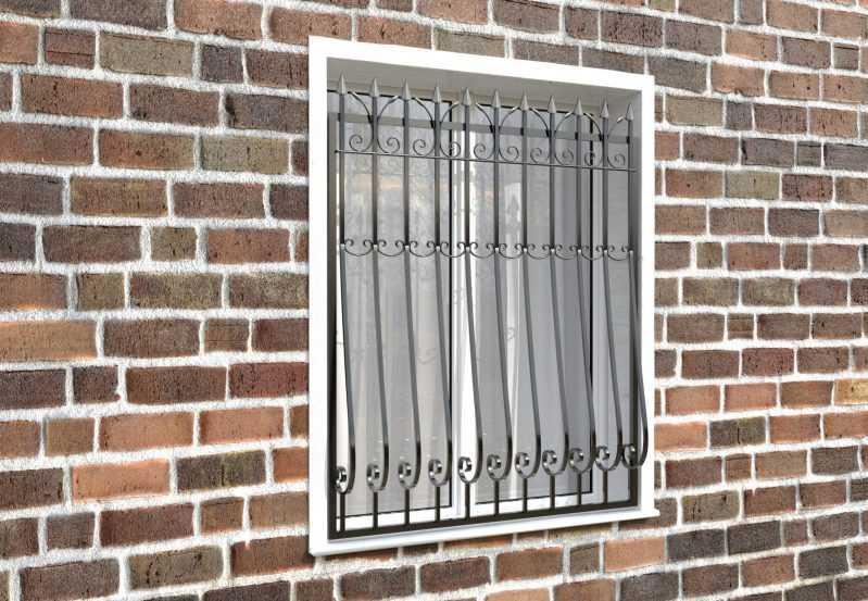 Фото 3 - Кованая решетка на окно КР-008.