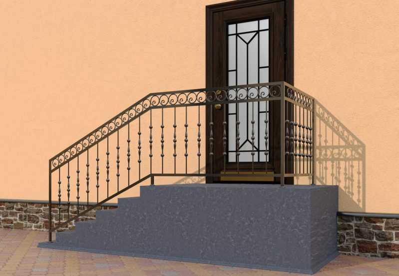 Фото 3 - Перила для лестниц П-006.
