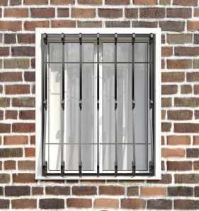 Фото 6 - Кованая решетка на окно КР-009.