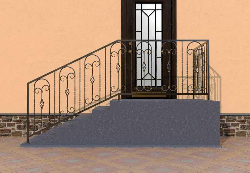 Фото 1 - Перила для лестниц П-0010.