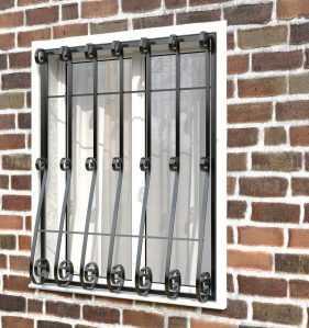 Фото 7 - Кованая решетка на окно КР-009.