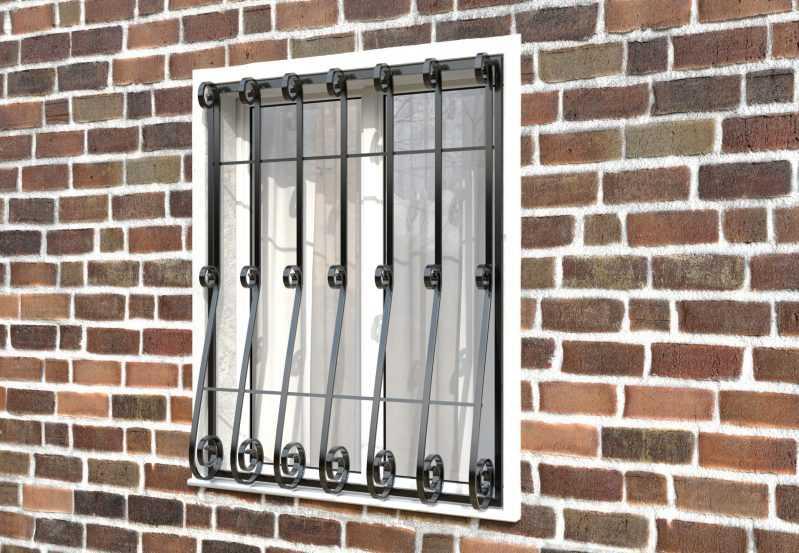 Фото 2 - Кованая решетка на окно КР-009.