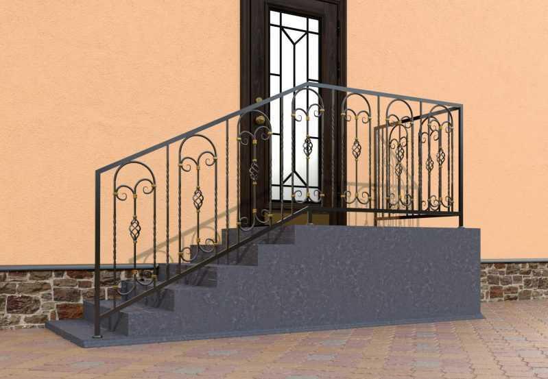 Фото 2 - Перила для лестниц П-0010.
