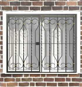 Фото 33 - Распашная решетка на окно РР-0040.