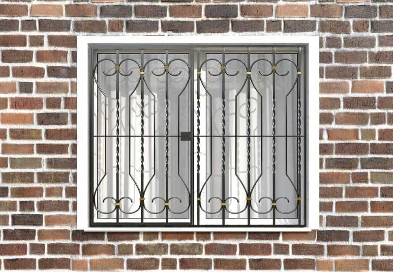 Фото 1 - Распашная решетка на окно РР-0040.