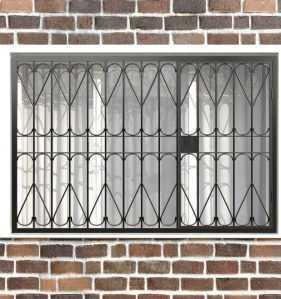 Фото 25 - Распашная решетка на окно РР-0026.