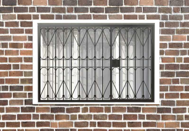 Фото 1 - Распашная решетка на окно РР-0026.