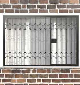 Фото 23 - Распашная решетка на окно РР-0025.