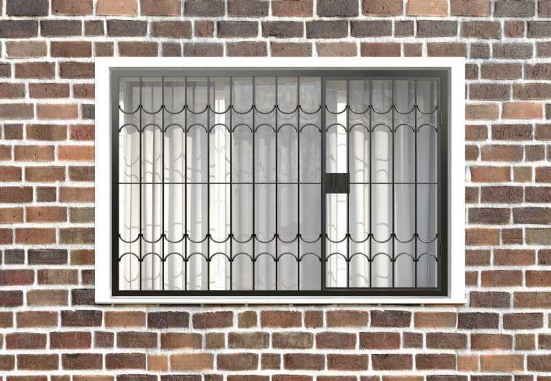 Фото 1 - Распашная решетка на окно РР-0025.
