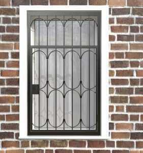 Фото 27 - Распашная решетка на окно РР-0024.