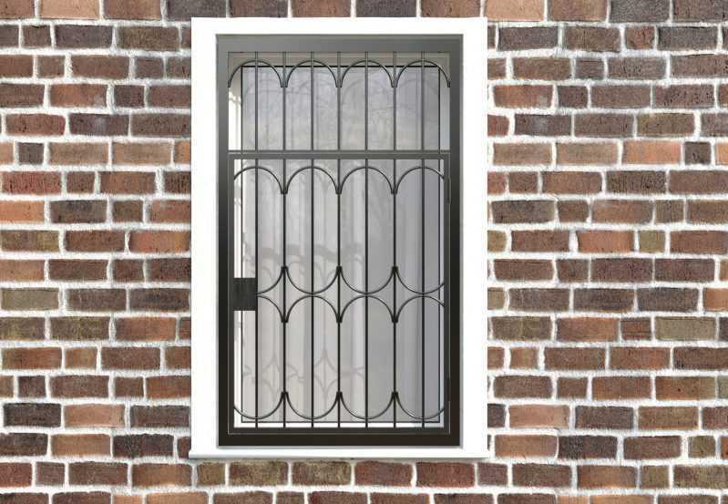 Фото 1 - Распашная решетка на окно РР-0024.