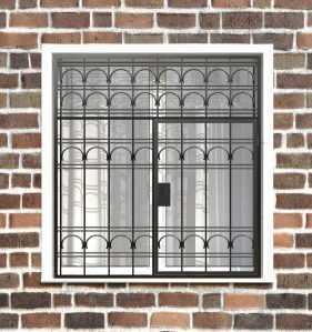 Фото 17 - Распашная решетка на окно РР-0023.