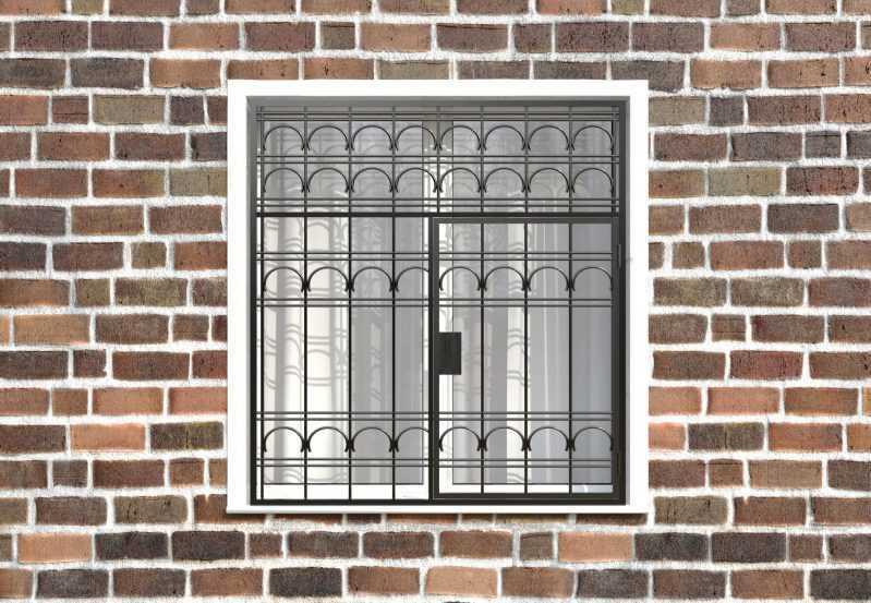 Фото 1 - Распашная решетка на окно РР-0023.