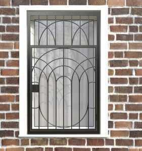 Фото 9 - Распашная решетка на окно РР-0022.