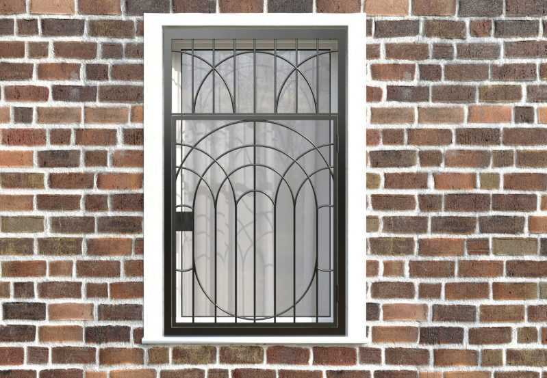 Фото 1 - Распашная решетка на окно РР-0022.